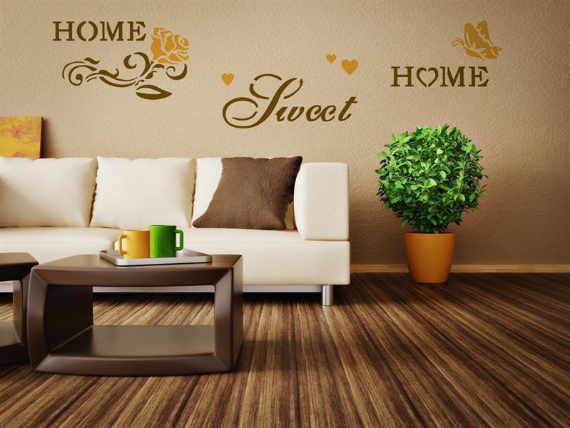 Home design brico xxl sablon falra sweet home for Home sweet home designs