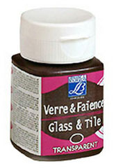 Üveg és kerámia festék GLASS&TYLE 50ml - transparent - Chocolate