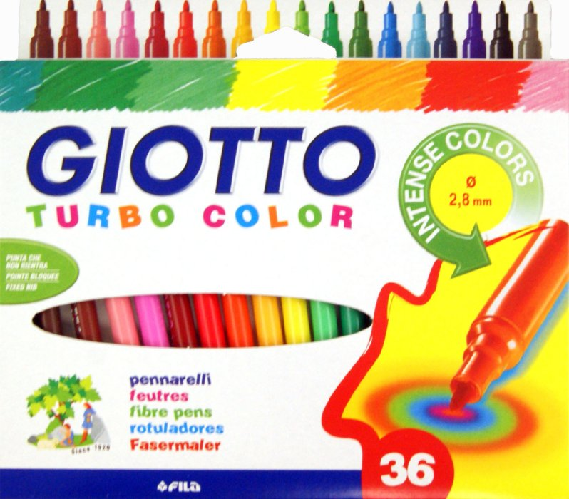Filctollak GIOTTO TURBO COLOR / 36 szín