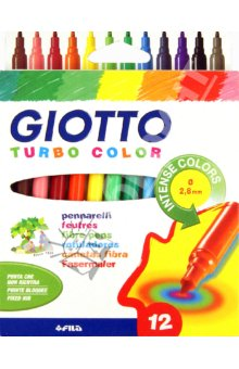 Filctollak GIOTTO TURBO COLOR / 12 szín