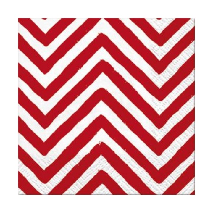 Decoupage szalvéta - Big Chevron Red - 1 db