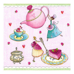 Decoupage szalvéta - Tea party - 1db
