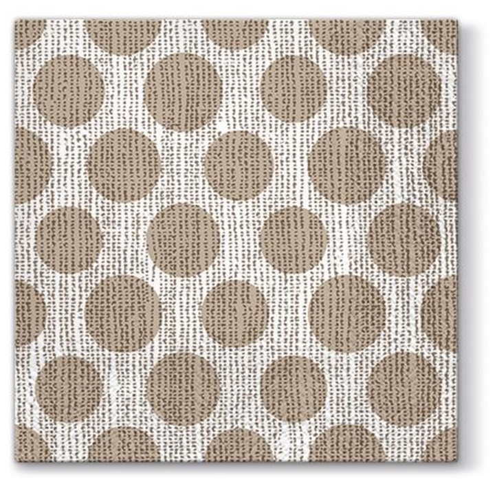 Decoupage szalvéták Dots on Linen - 1 db