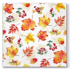 Decoupage szalvéták Falling Leaves - 1 db