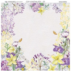 Kétoldalú scrapbooking papír 30.5 x 30.5 cm - When Lilacs Bloom 03