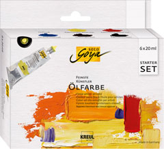 Olajfesték Finest Artists Solo Goya Starter Szett 6x20 ml